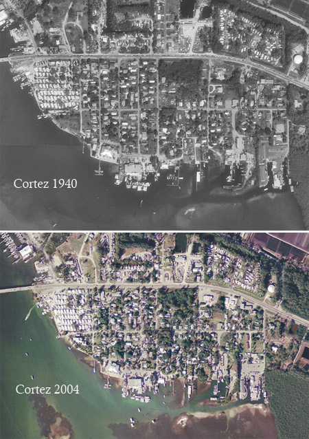 Aerial images depict dramatic development in Cortez.