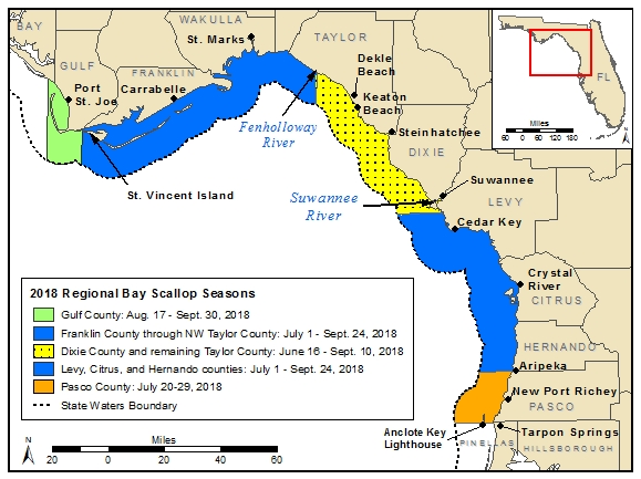 2018 FWC scalloping map