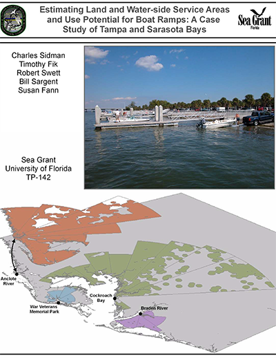 estimating land and water side service areas and use potential for boat ramps: a case study of tampa and sarasota bays