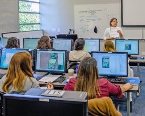 Guevara instructing a gis training for professionals