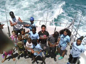 A boat ride on the ocean often means a life-changing moment, Mahogany Youth leaders say. Mahogany Youth photo.