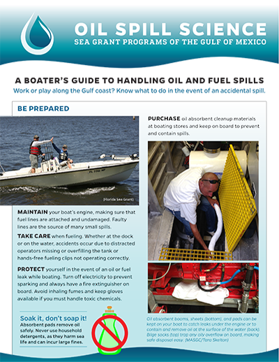 a boaters guide to oil and fuel spills