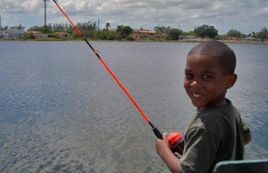 Through fishing, Mahogany Youth gives youngsters a positive environment where they learn life skills. Mahogany Youth photo.